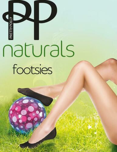 Pretty Polly Footsies *NEW* Pretty Polly Natural Footsies Barely There /& Black