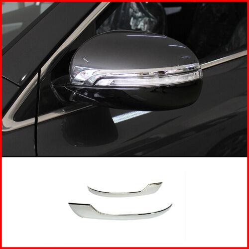 For Kia Sorento 2015-2018 2019 2pcs ABS Chrome Rearview Side Mirror Cover Trim