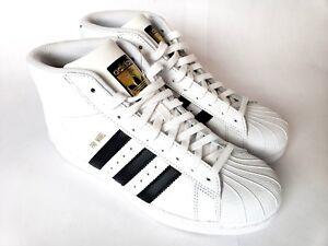 9c14866aa2332f Adidas Pro Model S85962 White Black Size 6.5 Basketball Shoes New