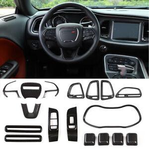 Full Kit Interior Accessories for Dodge Challenger 15+ Steering Wheel Cover Trim