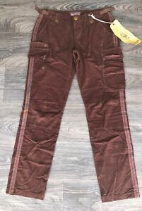 8bfd44e7884 NWT Da Nang Women s Cotton Corduroy Cargo Pants Earth Brown