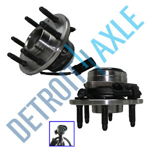 Set of (2) New Complete Front Wheel Hub & Bearing Assembly - Chevy GMC 2WD 6 LUG