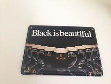 Guinness Bier - BLACK IS BEAUTIFUL  - Mini Blechschild Blechkarte sign 31