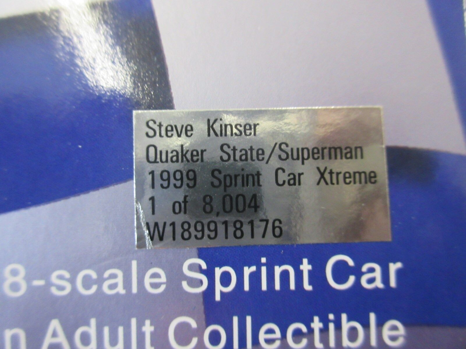1995 Steve Kinser Limited Edition 1 18th Scale Scale Scale Sprint Car 081bd3