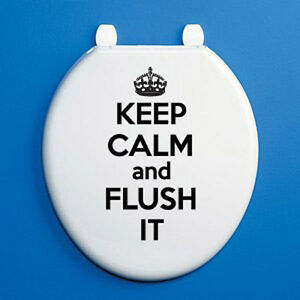 Keep Calm And Flush It Toilet Seat Vinyl Sticker Novelty