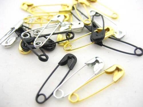 pequeñas de Oro Negro astilla Imperdibles Cobre Pin Clips Etiqueta Accesorios 100