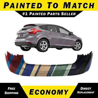 Rear Bumper Cover Compatible with 2015-2018 Ford Focus Primed Sedan