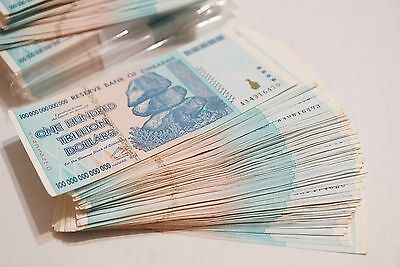 10 x 100 Trillion Dollars zimbabwe Average Circulated 2008 series AA - PA91