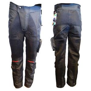 BLACK ASH MENS MOTORCYCLE PANTS TEXTILE CORDURA ARMORED SIZE 32 WAIST