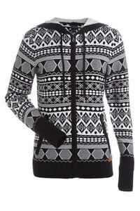 07ca16add0b6ff Nils Laura Hooded Ski Sweater - Women's - Medium, Black/White ...