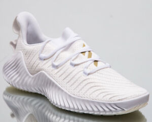 ae86a47c1 Image is loading adidas-AlphaBOUNCE-Trainer-Men-New-White-Training-Sneakers-