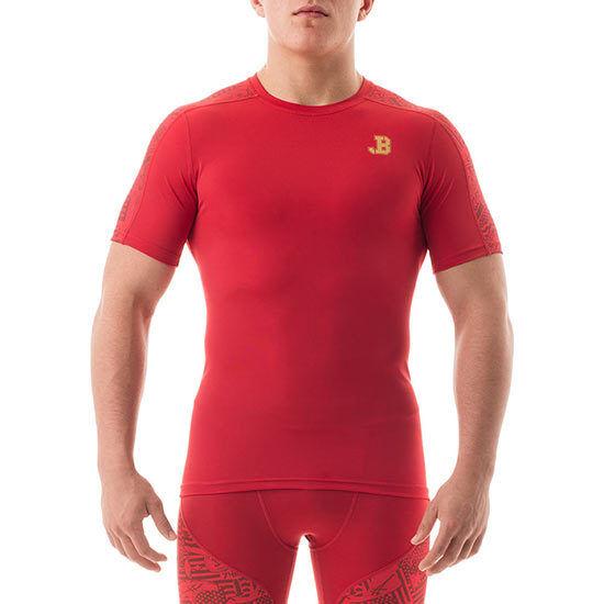 e3a189e711f ASICS Jordan Burroughs Short Sleeve Training T-shirt Scarlet Size M ...
