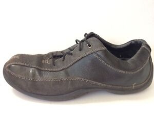 Contenere cartella acquazzone  Clarks Privo Mens 9 M Black Leather Sneaker Oxford Work Shoes Casual  Bicycle Toe | eBay