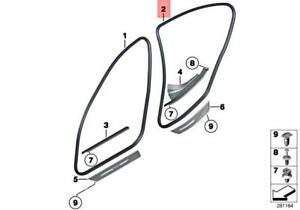 For BMW Genuine Door Seal Rear Inner 51727278504