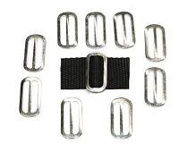 10 x 25mm zinc plated OVAL 3 Bar Slides Buckles for 25mm Webbing