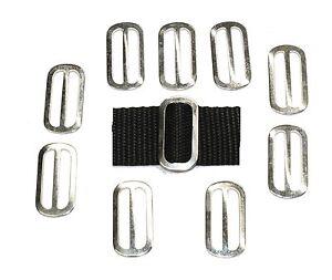 Slides-Buckles-10-x-25mm-zinc-plated-OVAL-3-Bar-for-25mm-Webbing-Handy-Straps