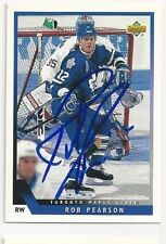 93/94 Upper Deck Autographed Hockey Card Ron Pearson Toronto Maple Leafs
