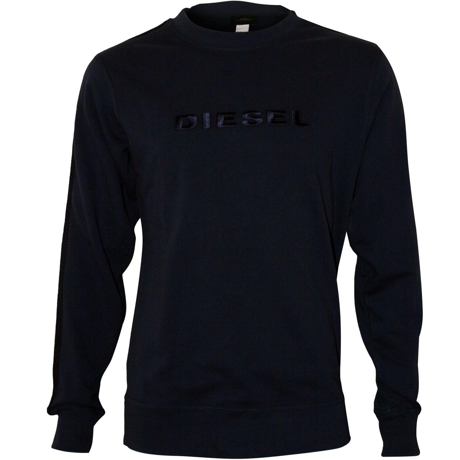 Diesel Embroiderot Logo Men's Sweatshirt Navy