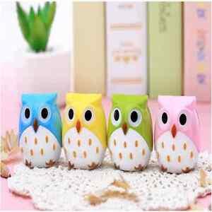 Cute-Stationery-Mini-Owl-Pattern-Pencil-Eye-Pen-Pencil-Sharpener-Bor-School-KidW