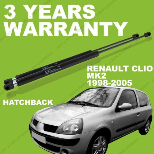 Boot tailgate 2x Gas Struts for Renault Clio MK2 1998-2005 Hatchback Rear
