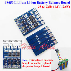 3S-12-6V-Li-ion-Lithium-18650-Battery-Balancer-Charger-Charging-Balance-Board