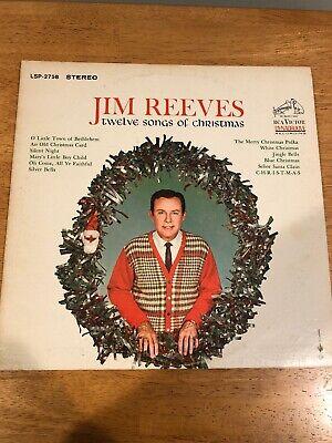 Jim Reeves - Twelve Songs of Christmas (1963) Vinyl Record LP Album | eBay