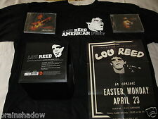 LOU REED american Poet BOX Numbered Limited Edition 2 CD T-Shirt Tour Poster NEU