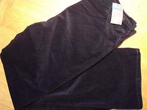 Ladies-Navy-Cord-Stretch-Cotton-Bootleg-size-14-Short-18-New
