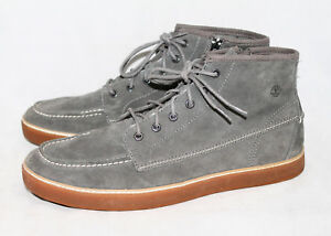 f1ad6bf0516 Details about NWOB TIMBERLAND 9666A Hudston Men's 13M Gray Suede Moc Toe  Chukka Boot Lace Zip