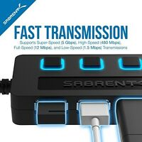 4-port Usb Hub, Individual Power Switches Accessories Computer Laptops Teens on sale