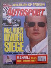 Autosport (26 March 1998) Porsche 911 GT3, Piquet, Astra F2, McLaren, Mansell