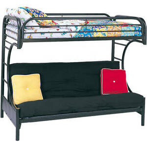 Details About Bunk Beds Twin Over Full Loft Futon Metal Frame Bedroom Furniture Teen Double