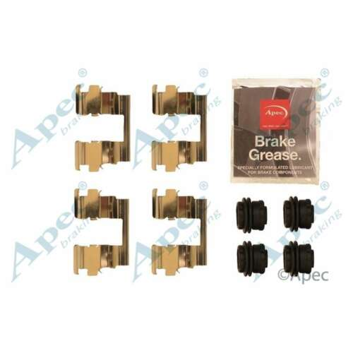 Genuine OE Quality Apec Rear Brake Pad Accessory Fitting Kit KIT1268