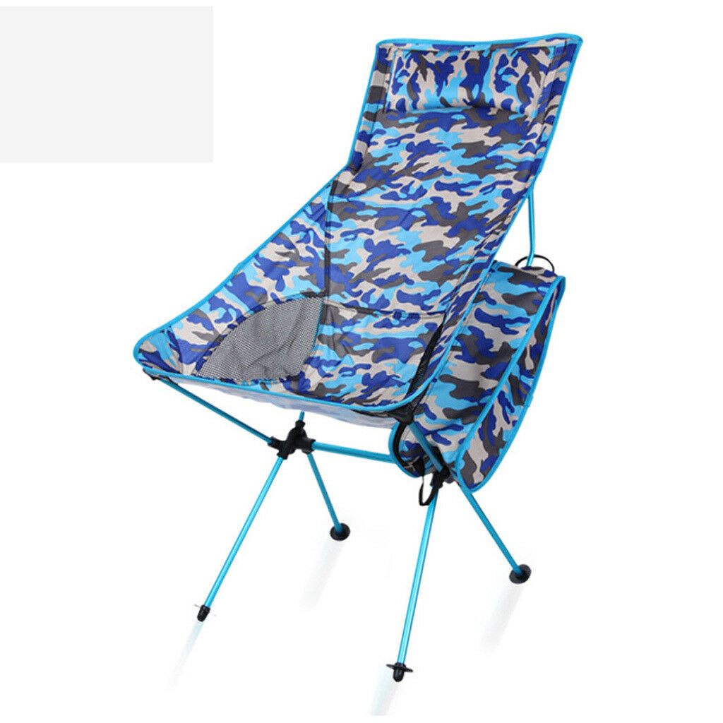 Portable Folding Aluminum Chair Outdoor Fishing Fishing Fishing Camping Travel Picnic Camo 55312c