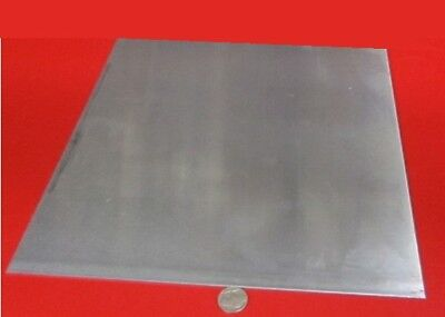 """6 PIECES OF .080 ALUMINUM SQUARE SHEETS  APPROXIMATELY 4/"""" X 4/"""""""