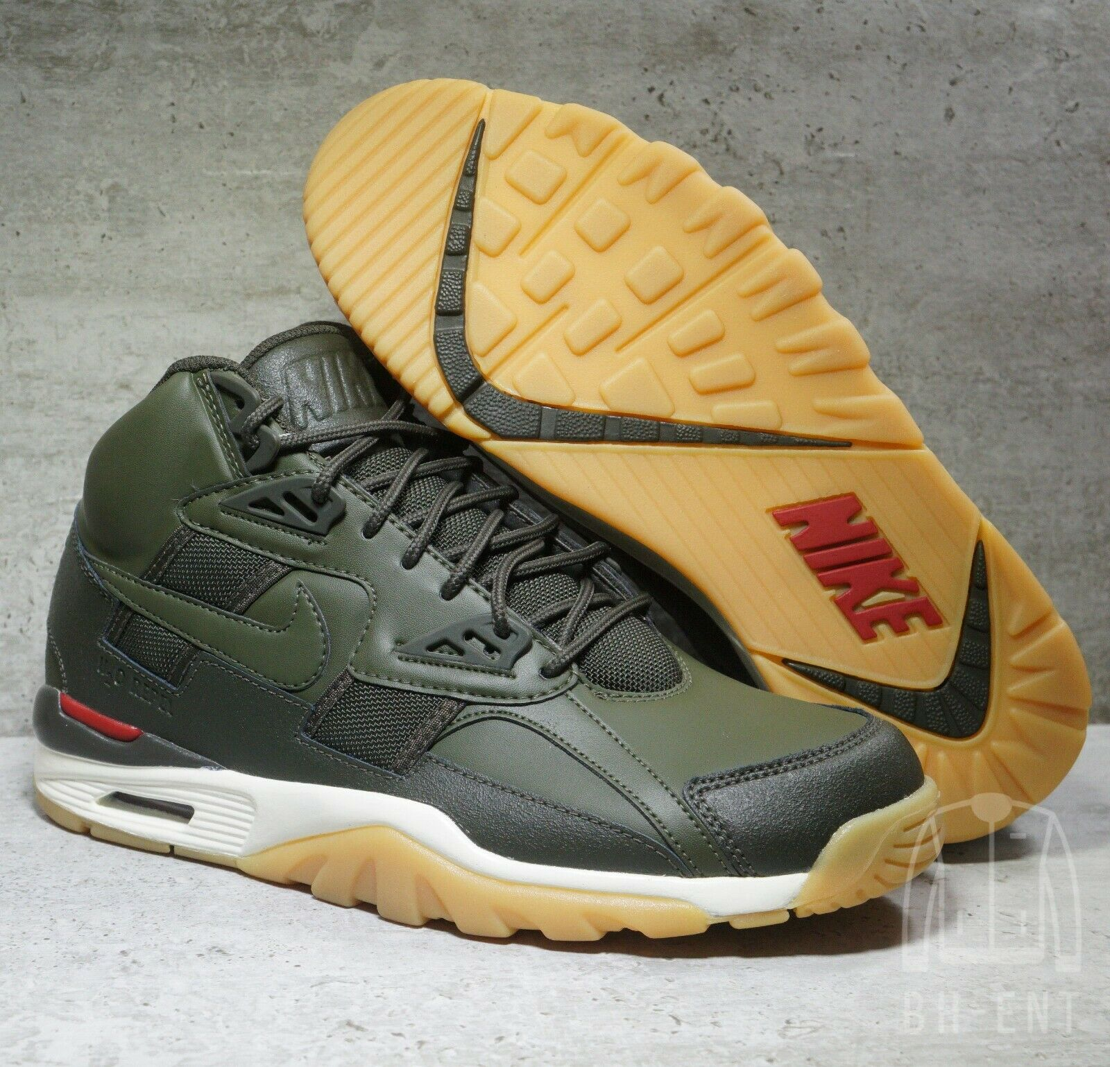 Nike Air Trainer SC Wntr Winter shoes AA1120-300 Cargo Khaki Olive Men's Size 8
