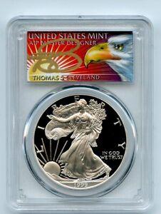 1999-P-1-Proof-American-Silver-Eagle-1oz-PCGS-PR69DCAM-Thomas-Cleveland-Eagle