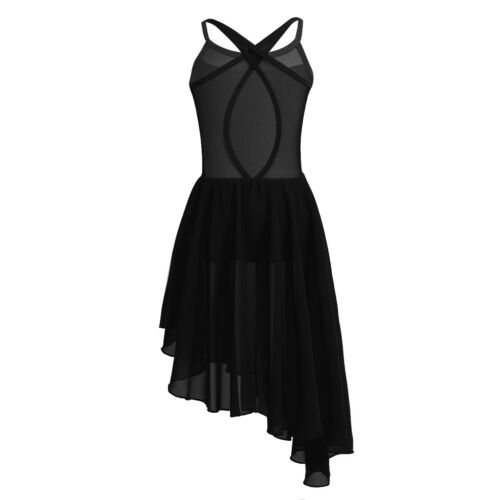 Girls Lyrical Ballet Dance Dress Tutu Skirt Latin Leotards Gym Dancewear Costume