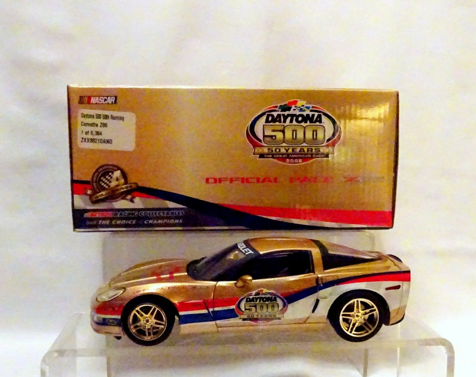 2008 Corvette Z06 Daytona 500 Pace Car 50 Years  1 24 Greenlight......(56)