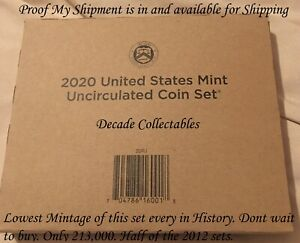 Combined Shipping 2020 P D U.S.Mint Uncirculated BU 20 Coin Set In Hand