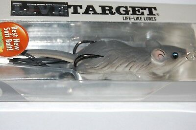 """koppers live target surface lure field mouse 3/"""" 5//8oz grey white mhb60t401"""