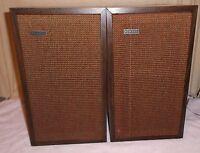 "Pair Vintage H.H. Scott Model S-17 Speakers 2 Way 18"" Tall Bookshelf"