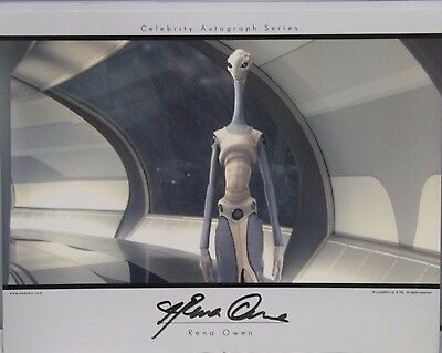 Rena Owen Star Wars Signed 11x14 Card Stock Photo Celebrity Autograph Series COA