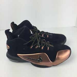 3918f11b966f9 NIKE ZOOM AIR PENNY VI 6 PREMIUM PRM Black Metallic Copper 749629 ...