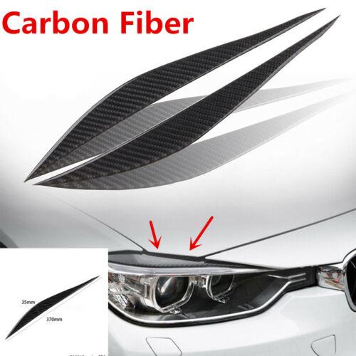 Car Headlight Eyelids Eyebrow For BMW 3 Series F30 328 320i 13-15 Carbon Fiber