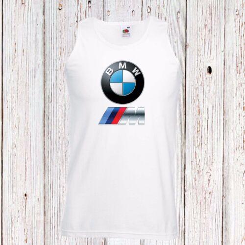 BMW MEN HERREN VEST TOP TANK T-SHIRT FUN LOGO BLACK//WHITE AUTO CAR M POWER