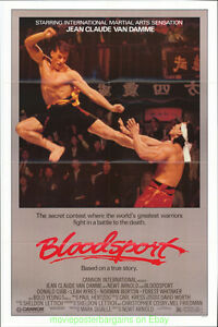 BLOODSPORT MOVIE POSTER 27x41 ORIGINAL Mixed Martial Arts JEAN-CLAUDE VAN DAMME