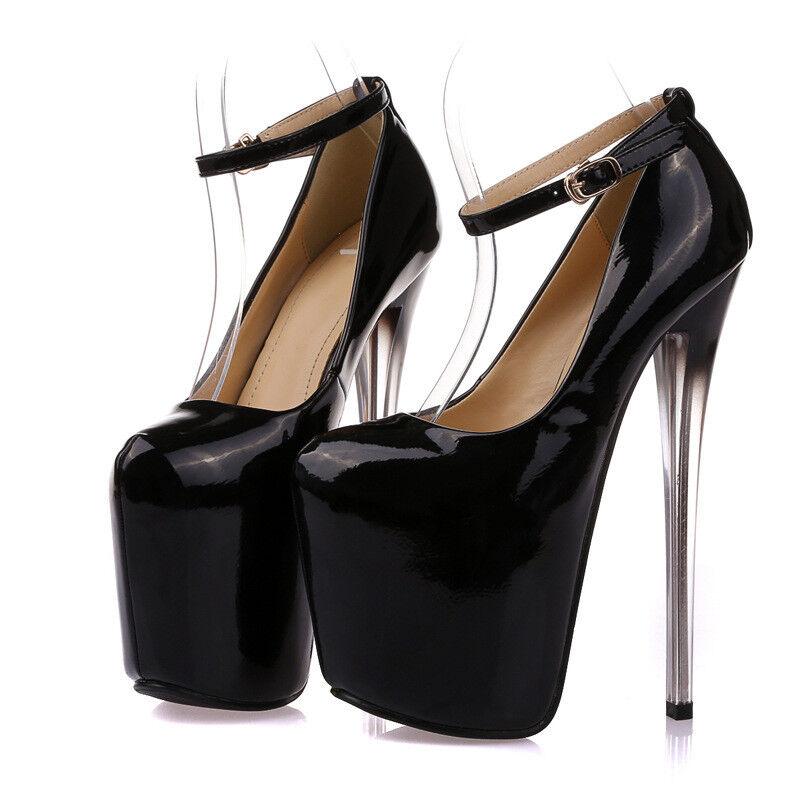 acquista la qualità autentica al 100% Ankle Strap Drag Queen Queen Queen donna High Heels Platform Crossdresser Stiletto Big Shoe  conveniente