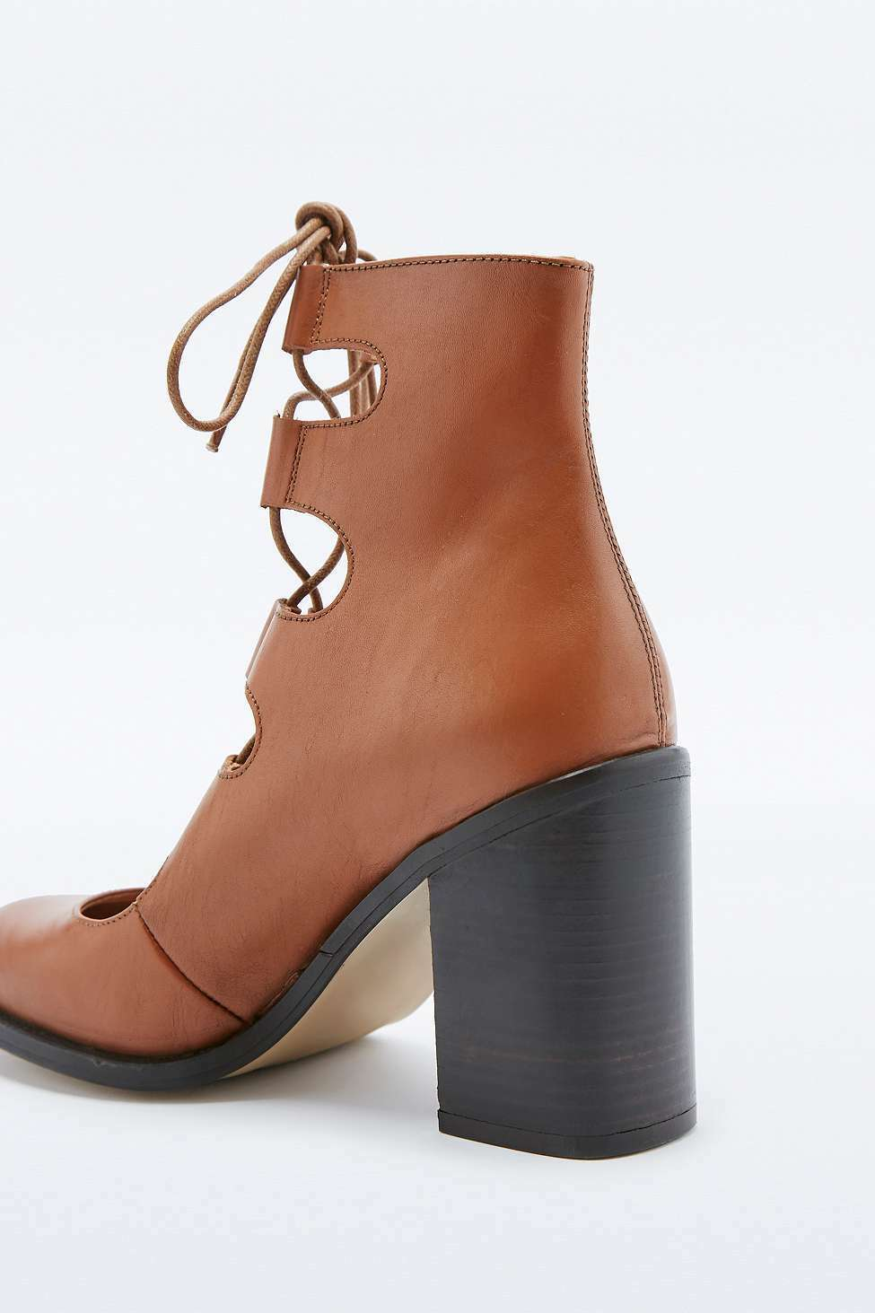 Urban Krista Outfitters Deena & Ozzy Krista Urban Tan Lace-Up Flare Heels - Braun - UK 7 5dcdc3