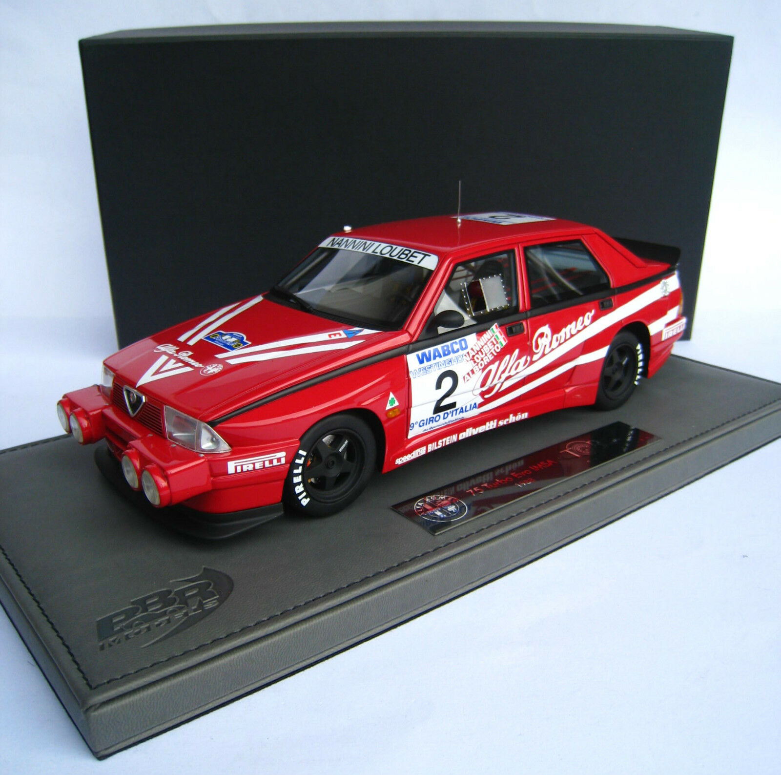 ALFA ROMEO 75 Turbo EVO con Night-lights limitato a 100 BBR Top Marques 1:18